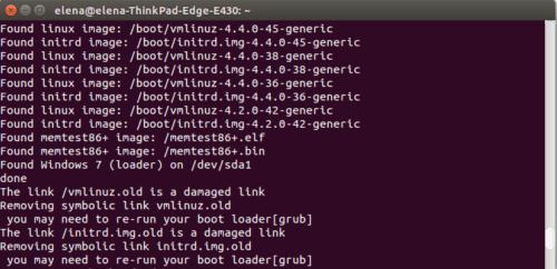 Проблема (ошибка ядра Linux): you may need to re-run your boot loader[grub]