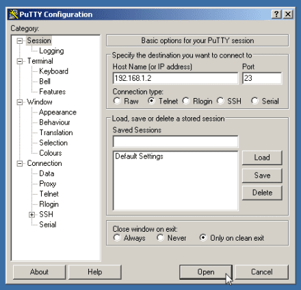 windows-putty-telnet