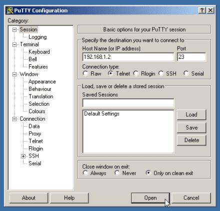 windows-putty-telnet