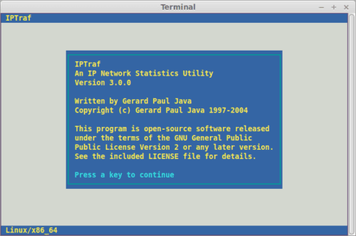 sudo iptraf Linux