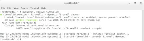 sudo systemctl status firewalld