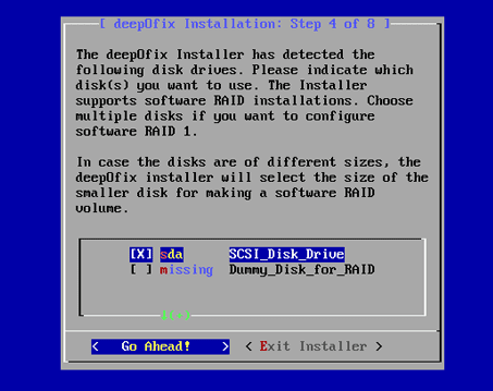 disk-selection