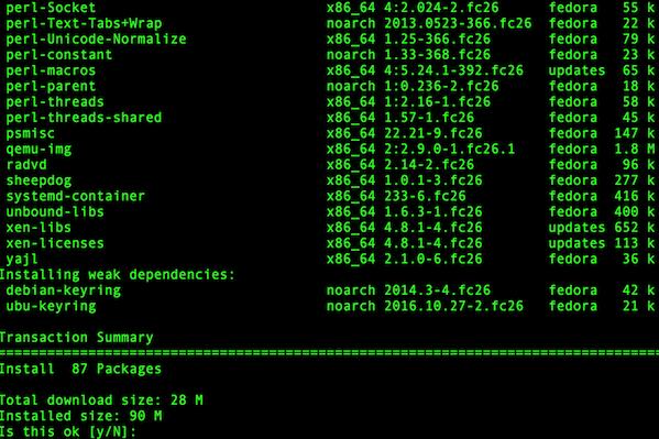 LXC-Installation-on-Fedora-26