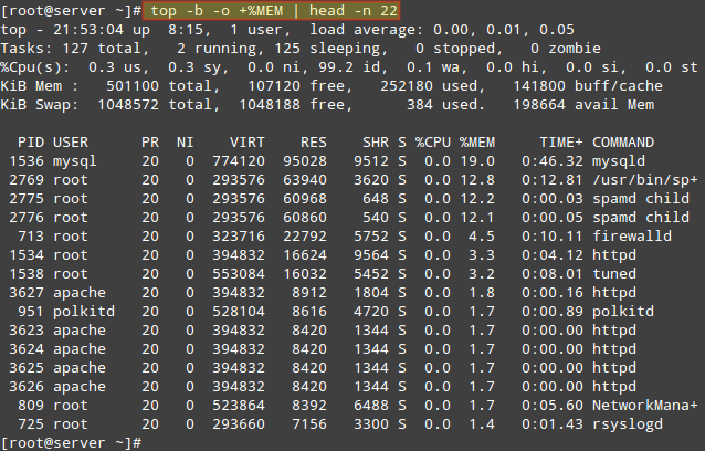 List-Top-15-Processes-By-Memory-Usage