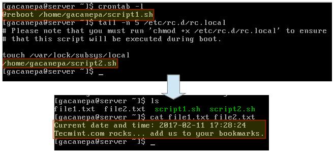 Как сделать автоматическое выполнение команд / скриптов во время перезагрузки или запуска