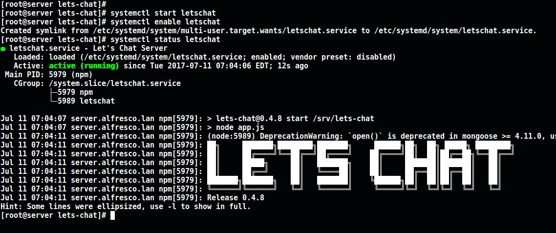 Start-LetsChat-Server