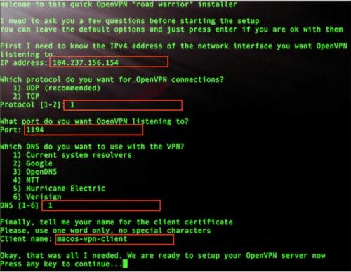 OpenVPN config