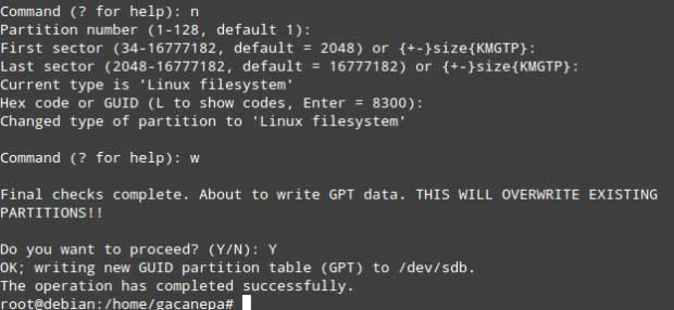 gdisk-Command-Options