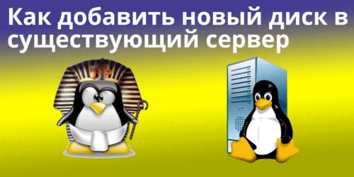 Как добавить новый диск в существующий сервер