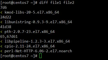Compare-Two-Text-Files-in-Linux