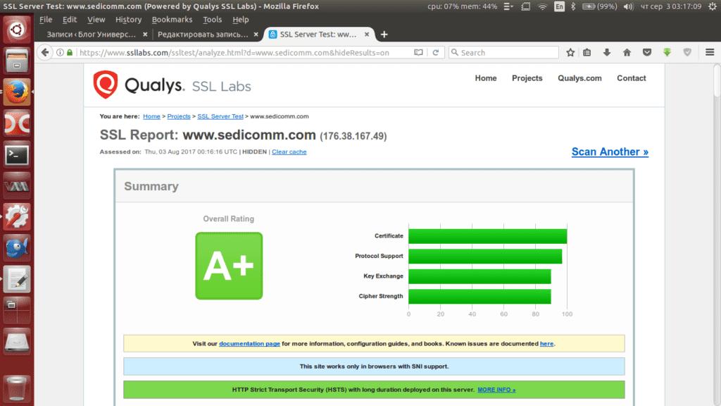Виртуальный ssl хостинг на сервере Apache