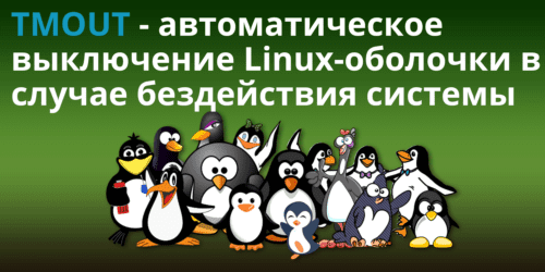 TMOUT -- автоматический выход с Linux-оболочки в случае бездействия пользователя