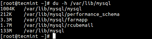Check-MySQL-Size-on-Disk