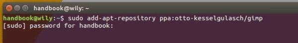 add-GIMP-PPA