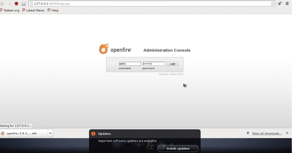 Openfire-Administration-Login