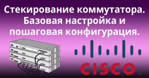 Стекирование коммутаторов Cisco. Базовая настройка и пошаговая конфигурация.