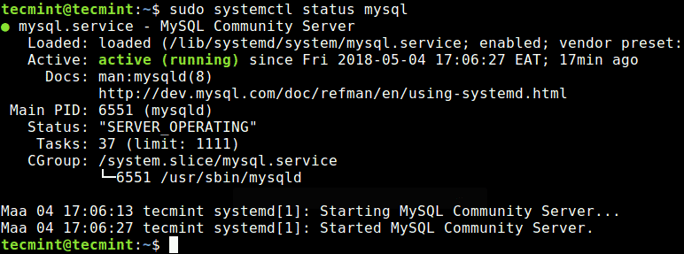 Check-MySQL-Server-Status