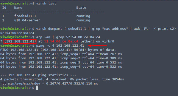 How-to-find-ip-address-in-linux-virtual-machine