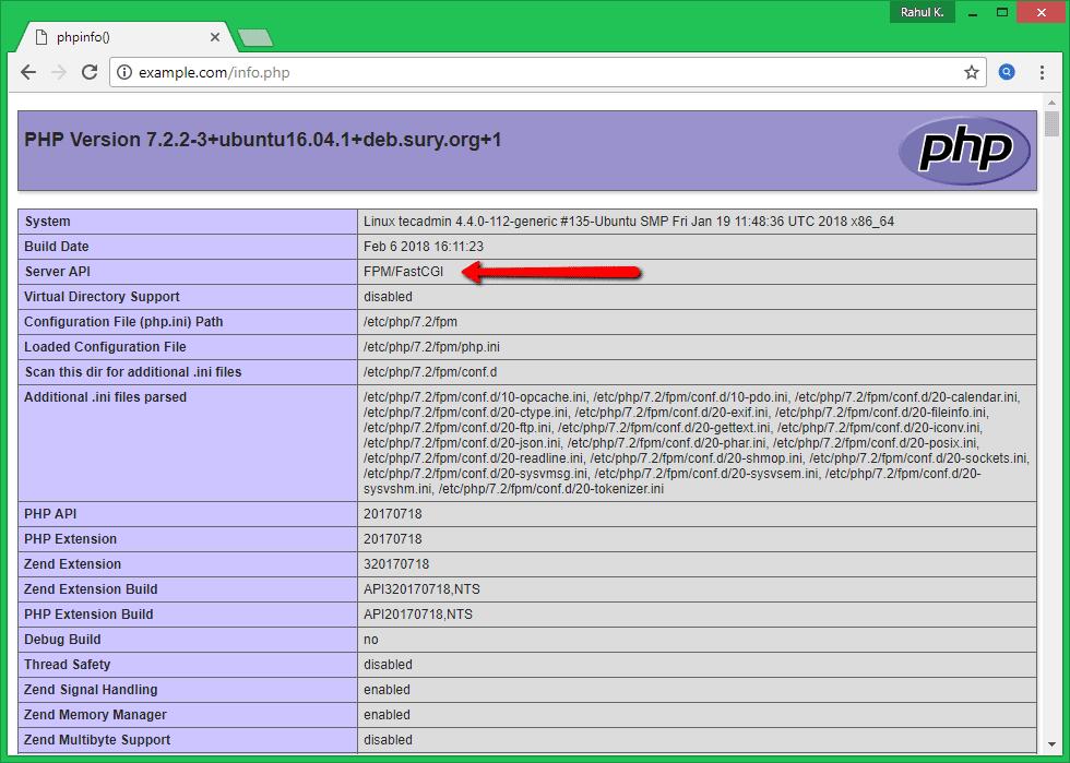 Как установить Apache с PHP-FPM/FastCGI на Ubuntu 16.04