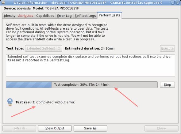 Hard-disk-test-is-in-progress