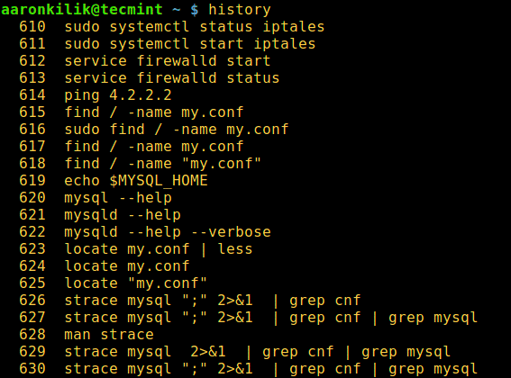 Linux-History-Command