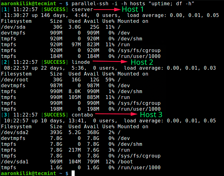 Pssh-Run-Commands-on-Multiple-Linux-Servers