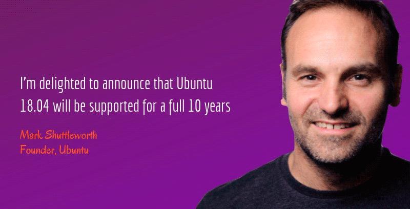 Ubuntu 18.04 получит 10-летнюю поддержку (вместо обычных 5 лет)