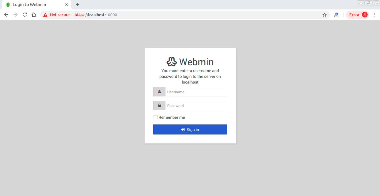 Login-Webmin