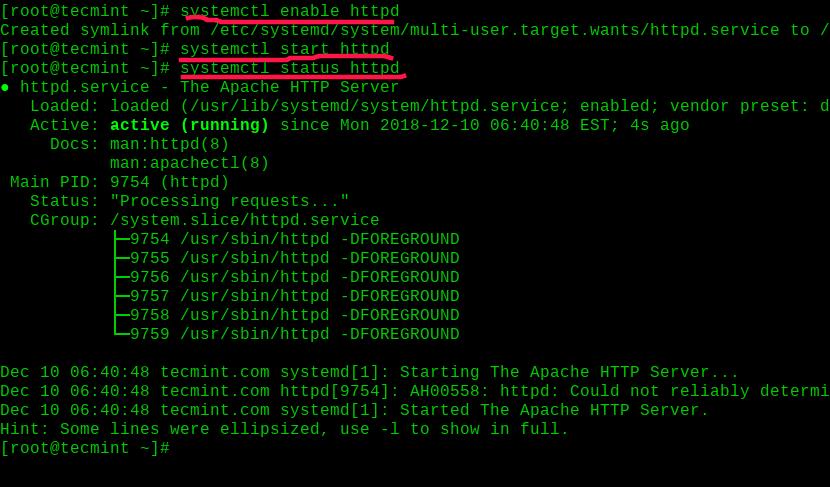 Enable-and-Start-Apache-on-RHEL-8