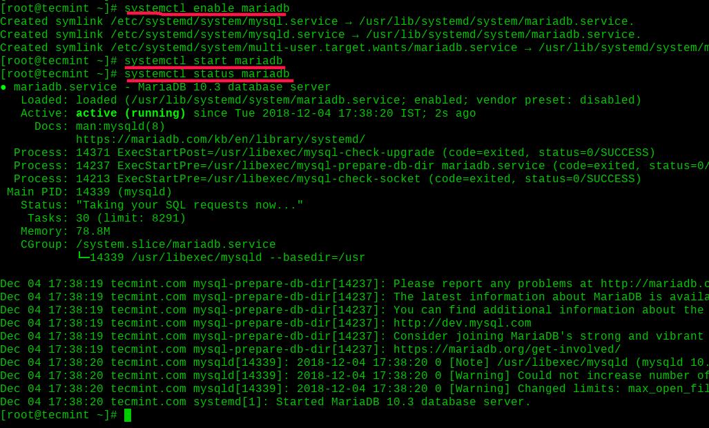 Enable-and-Start-MariaDB-on-RHEL-8