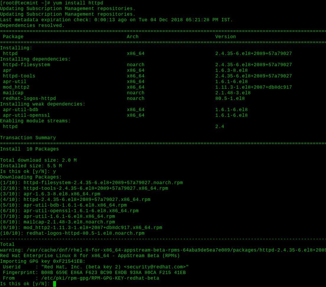 Install-Apache-on-RHEL-8