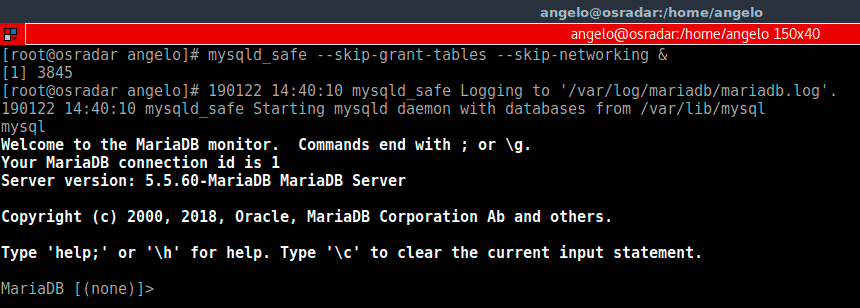 Login-into-Mysql-or-MariaDB-shell