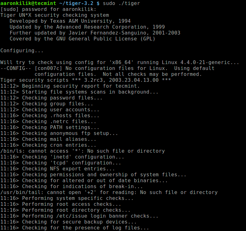 Run-Tiger-Security-Audit-Tool-on-Linux