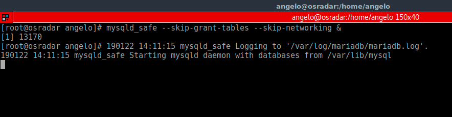 Running-Mysql-on-a-safe-mode