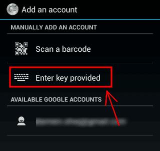 Enter-Google-Authenticator-Secret-Key