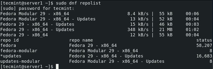 List-Enabled-Repositories-in-Fedora