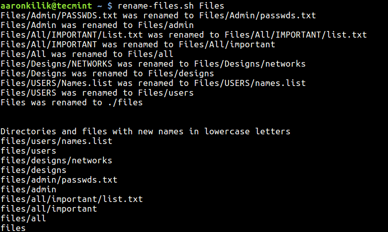 Lowercase-File-and-Directories-using-Script