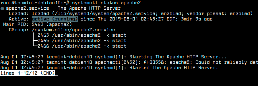 Check-Apache-Status-in-Debian-10
