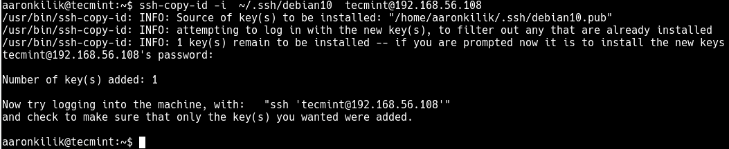 Copy-SSH-Key-to-Debian-10