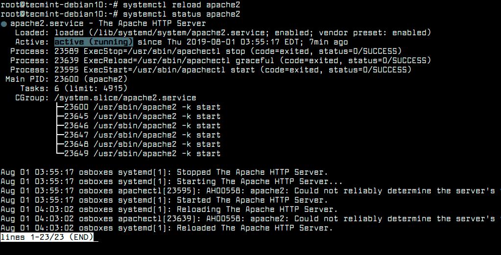 Reload-Apache-Configuration