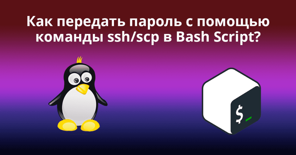 How to Pass Password to ssh scp Command in Bash Script