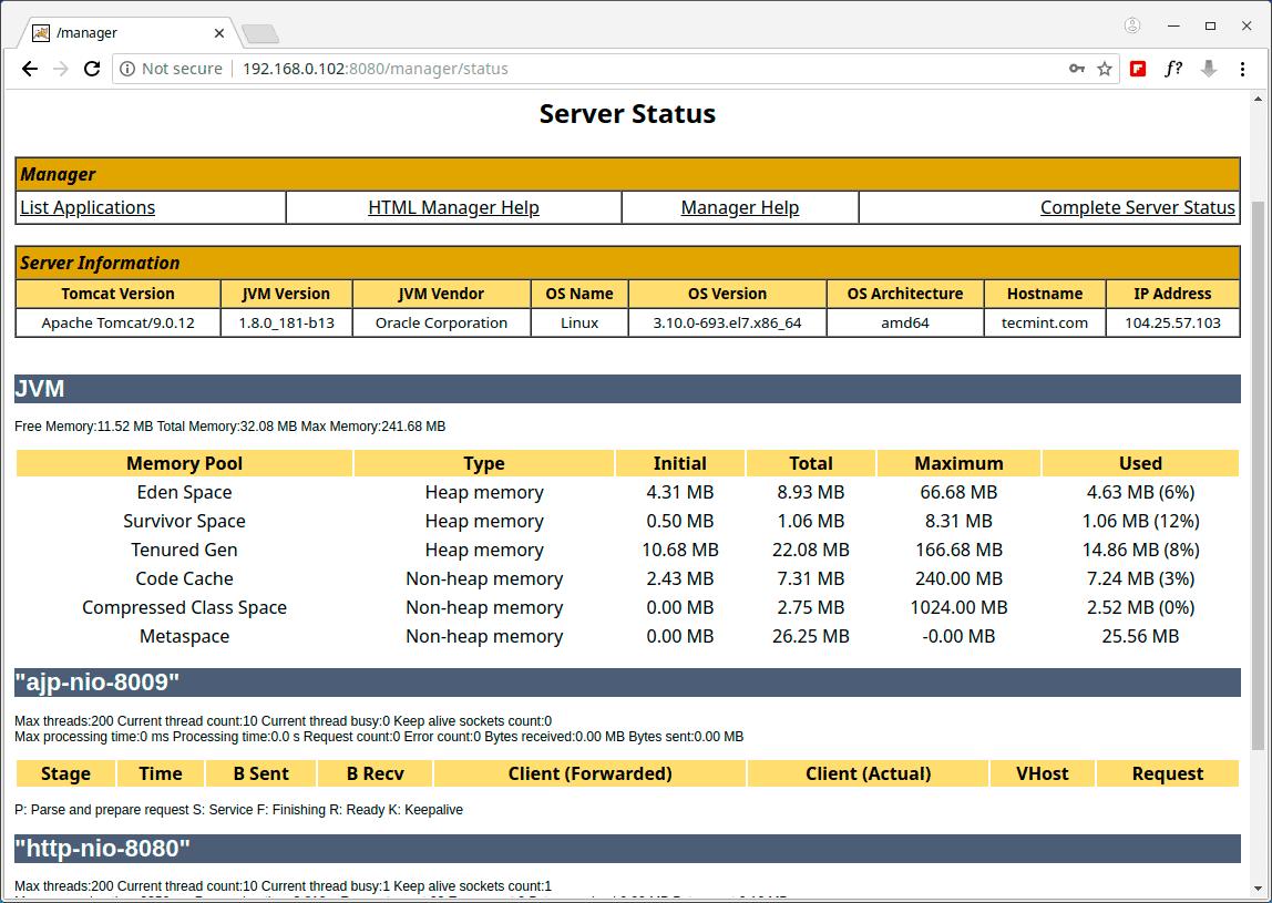 Monitor-Apache-Tomcat-Server-Status