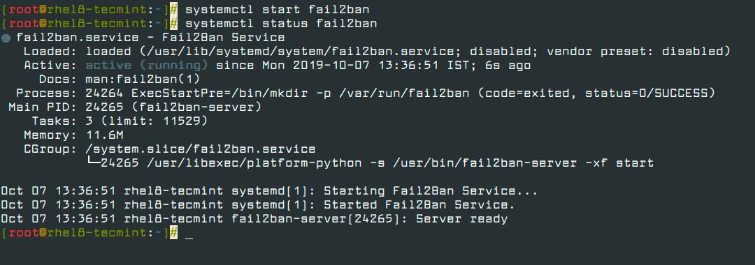 Start-Fail2ban-Service