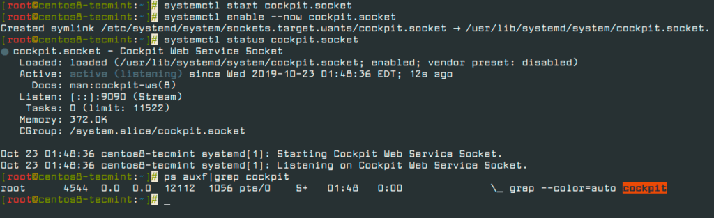 Start-and-Verify-Cockpit-Web-Console-in-CentOS-8
