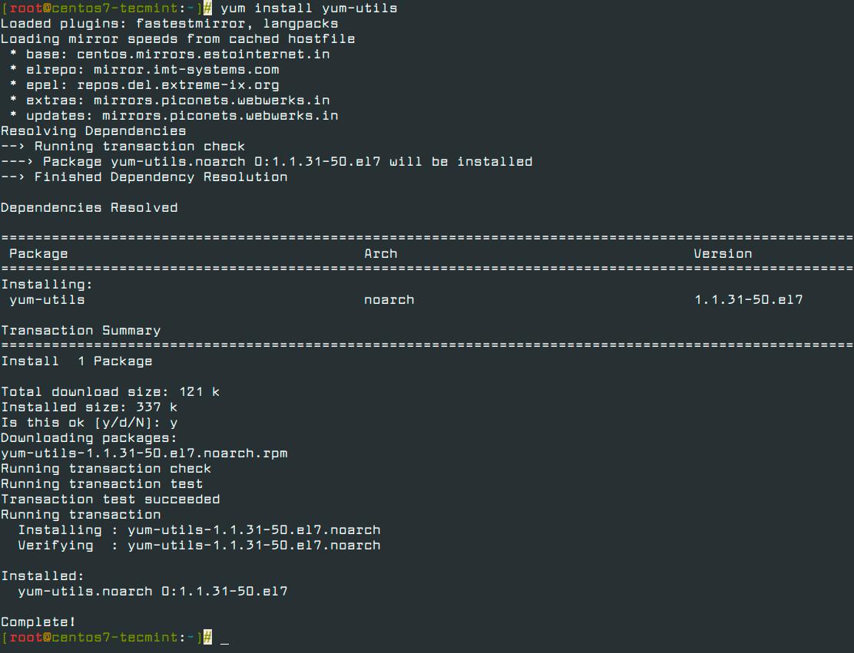 Install-yum-utils-in-CentOS-7