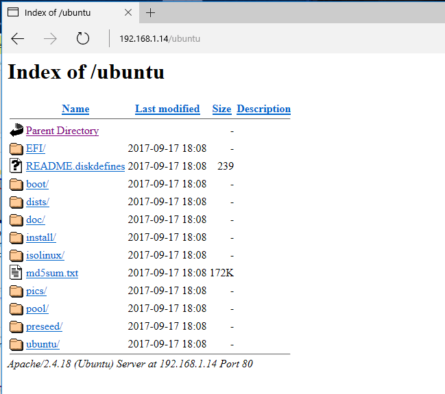 List-HTTP-Web-Directory - PXE или Preboot eXecution Environment