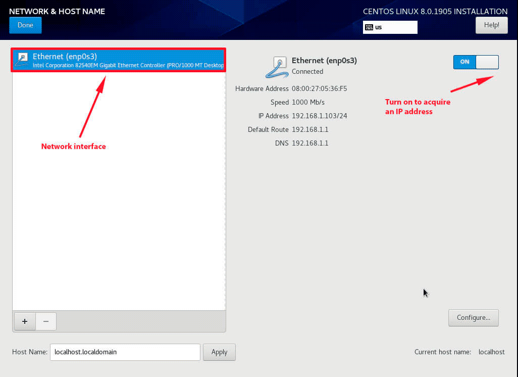 Configure-Network-Interface