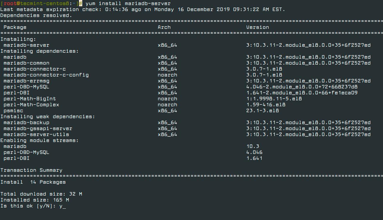 Install-MariaDB-in-CentOS-8