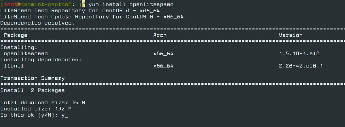 Install-OpenLiteSpeed-in-CentOS-8