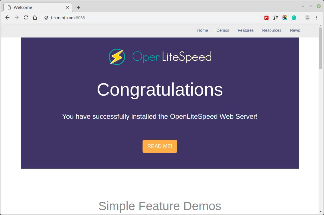 OpenLiteSpeed-Web-Page